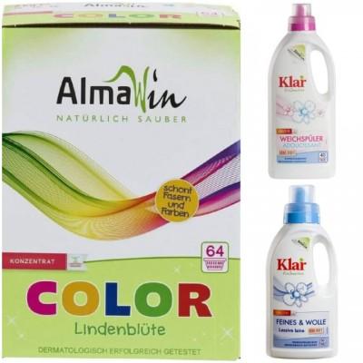 Σετ απορρυπαντικών 1 - Vegan - απορρυπαντικό για χρωματιστά, μαλακτικό, υγρό απρορυπαντικό