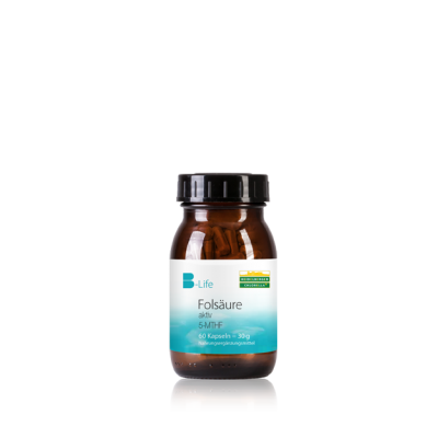 Φολικό οξύ (5-MTHF) και βιταμίνη Β12 σε κάψουλες - 60 κάψουλες -Heidelberger-Chlorella