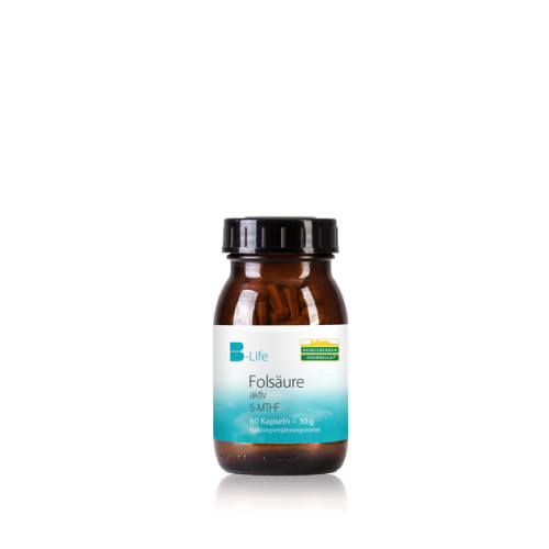 Φολικό οξύ (5-MTHF) + Βιταμίνη Β12 σε κάψουλες - 60 κάψουλες -Heidelberger-Chlorella Βιταμίνες