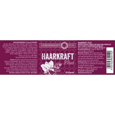 Σύμπλεγμα βιταμινών για μαλλιά και νύχια –Haarkraft plus – 60 κάψουλες