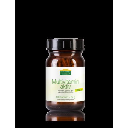 Πολυβιταμίνες χωρίς προσθήκη ιωδίου,   Multivitamin aktiv – Heidelberger Chlorella, 120 κάψουλες Βιταμίνες