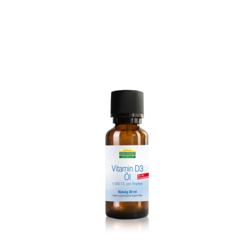 Βιταμίνη D3 σε υγρή μορφή (έλαιο) 1000 i.U. 30 ml– Heidelberger-Chlorella Βιταμίνες