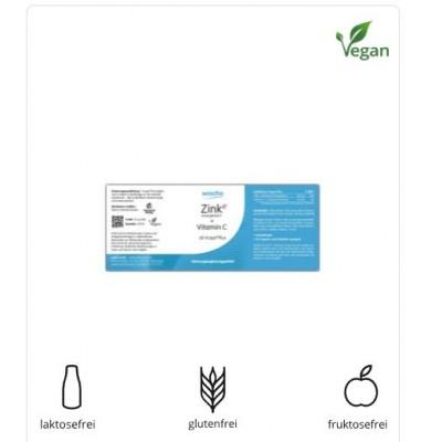 Ψευδάργυρος (ενεργός) με βιταμίνη C, 90 κάψουλες, vegan