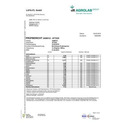 Βιολογική πρωτεΐνη μπιζελιού - 1500 γρ Βιολογικά Προϊόντα