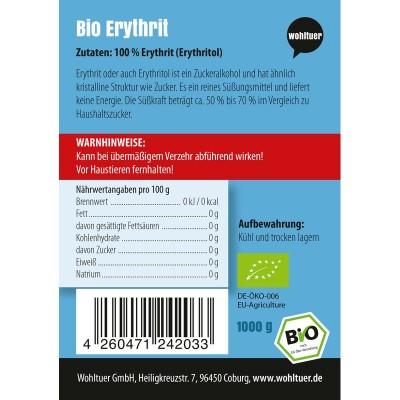 1 κιλό βιολογική ερυθριτόλη, Wohltuer