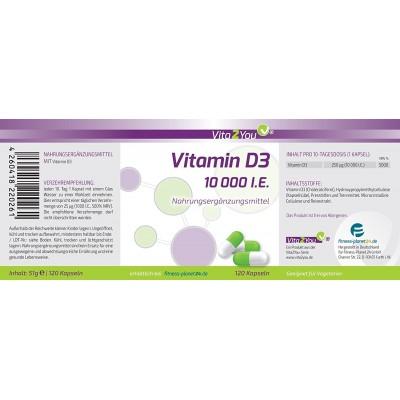 Βιταμίνη D3 10.000 i.U. , 120 κάψουλες