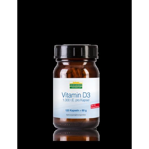 Βιταμίνη D3 - 120 κάψουλες – Heidelberger-Chlorella Βιταμίνες