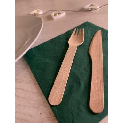 Σετ μαχαιροπήρουνα (25 πιρούνια και 25 μαχαίρια) από ξύλο