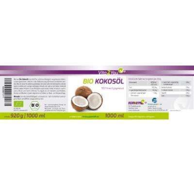 100% βιολογικό έλαιο καρύδας, ελεγμένο και πιστοποιημένο με DE-ÖKO-001 Βιολογικά Προϊόντα