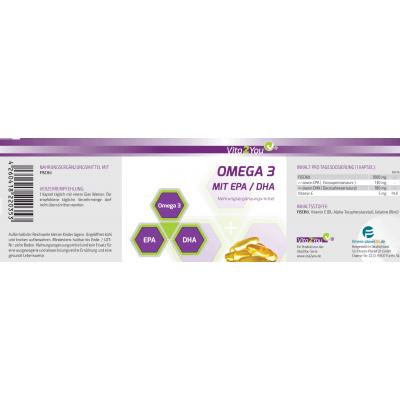 Ωμέγα 3 – 1000mg με EPA &DHA – 365 κάψουλες Vita2You