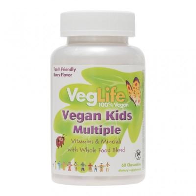 Πολυβιταμίνες  για παιδιά, Vegan Kids Multivitamin με ιώδιο, 60 τεμάχια